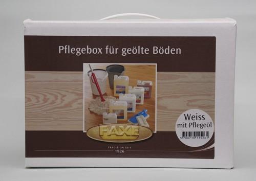 Faxe Pflegebox Holzboden weiß