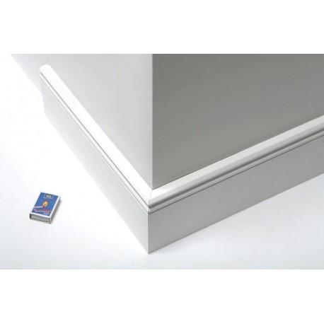 Komplett Neu Sockelleiste Altdeutsch Kiefer mit Lack weiß 120x22mm, Fixlänge 3  ZC74